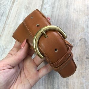 Coach | British Tan HighWaisted Leather Belt 28/70